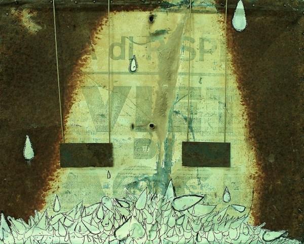 30X30  pittura su lamiera.2012